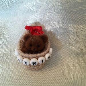 KATRINA personalized teddy bear pin-NEW